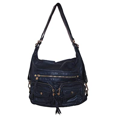 Amazon.com: Moda Luxe Preston Convertible Backpack Handbag (Blue ...