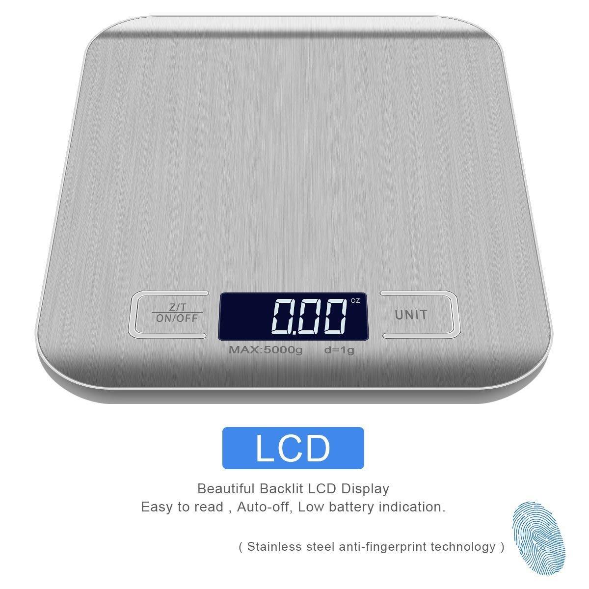 Digitale Kuchenwaage Hohe Prazision Auf Bis Zu 1g 5kg