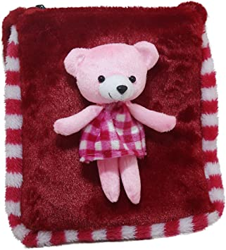 Tickles Red Teddy Sling Bag Stuffed Soft Plush Toy 3 litres