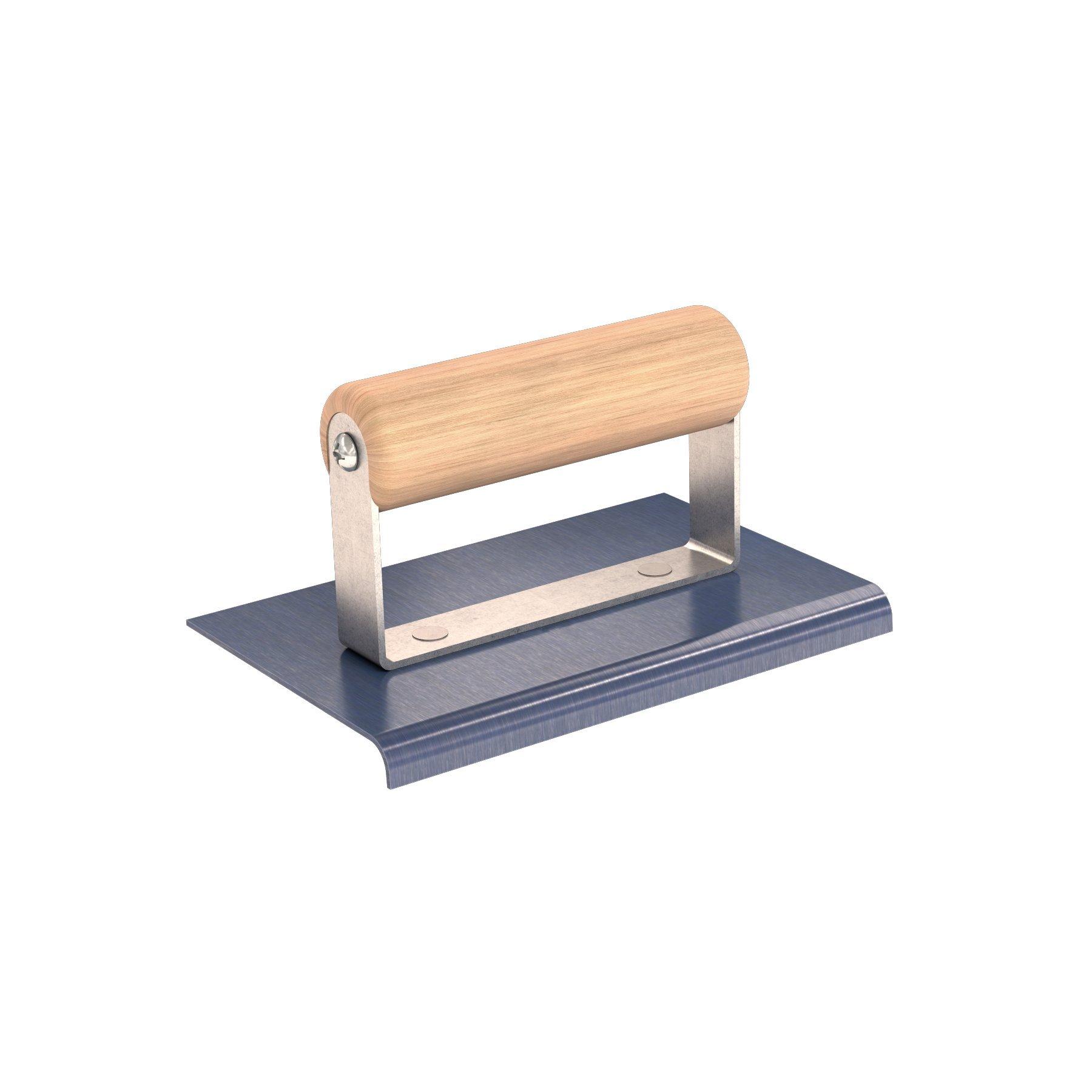 Bon 22-770 6-Inch by 4-Inch Blue Steel Sidewalk Edger, 1/4-Inch Radius, 3/8-Inch Lip with Wooden Handle
