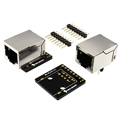 Miraculous Amazon Com 2 Pcs Rj45 8 Pin Connector 8P8C And Breakout Board Kit Wiring Database Wedabyuccorg