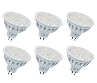 MR16 LED Bombillas Gu5.3 Destacar Equivalente 60W Luz Halógena Blanco Cálido 3000K 600LM AC