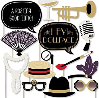 product image for Big Dot of Happiness Roaring 20's - Twenties Art Deco Jazz 1920s Photo Booth Props Kit - 20 Count