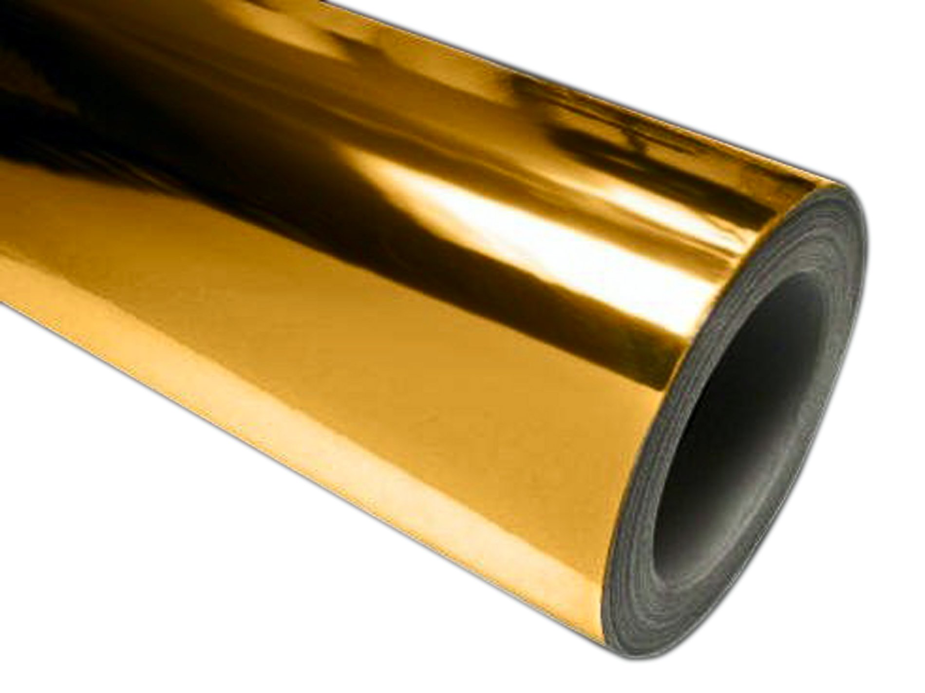 24'' x 50 ft Roll of Gold(Chrome Mirror) Repositionable Adhesive-Backed Vinyl for Craft Cutters, Punches and Vinyl Sign Cutters