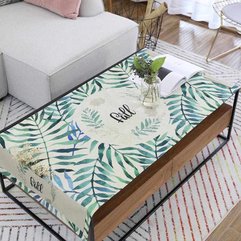 XixuanStore テーブルクロス小さな新鮮な北欧風の植物がコーヒーテーブルパッド綿防水茶テーブルクロスを印刷 (サイズ : 80*180cm) 80*180cm  B07PYTMTV2