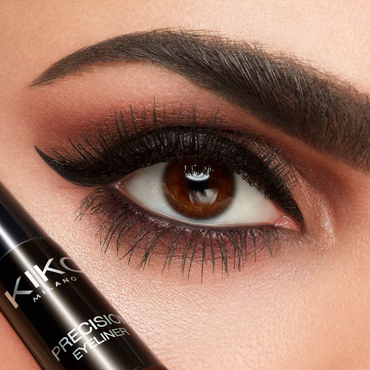 KIKO MILANO - Precision Eyeliner | Easy to Use Liquid Eyeliner with Fine Brush Applicator | Long Lasting Eyeliner Black | Cruelty Free | Made in Italy by Kiko