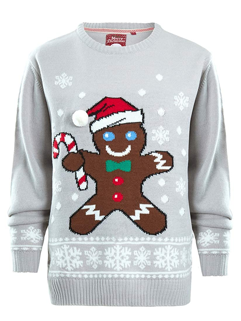 SS7 Boys Christmas Jumper Gingerbread Xmas Children