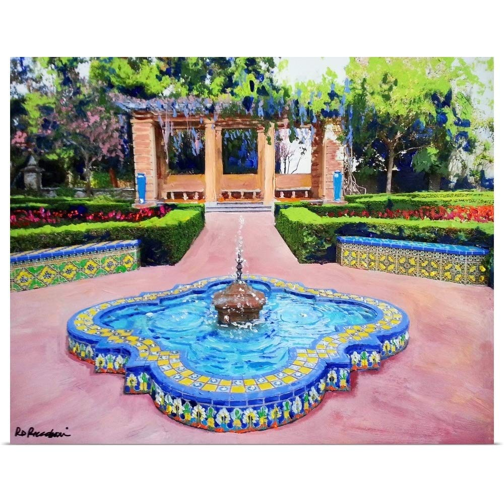 GREATBIGCANVAS Poster Print Entitled Alcazar Garden Fountain Balboa Park on by RD Riccoboni 30''x24''