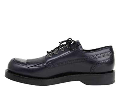 f42bf554f47 Amazon.com  Gucci Fringed Brogue Lace-Up Dark Blue Leather Shoes 358271  4009  Shoes