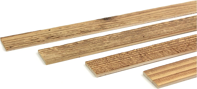 dise/ño de pino 1 m, 30 x 4 mm List/ón de madera para pared Wodewa