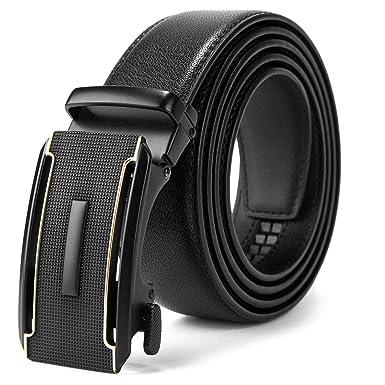 varietà larghe grandi affari 2017 prezzo all'ingrosso MUCO Cintura Uomo Pelle Nero Con Fibbia Automatica Durevole Elegante Per  Pantaloni Tuta