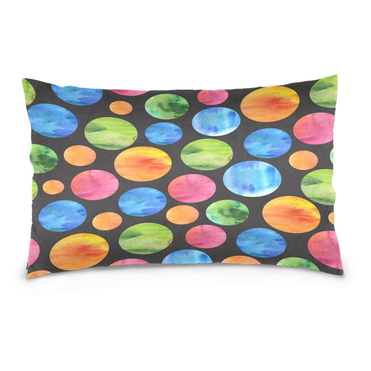ALAZA Colorful Planet Solar System Cotton Lint Pillow Case,Double-sided Printing Home Decor Pillowcase Size 16''x24'',for Bedroom Women Girl Boy