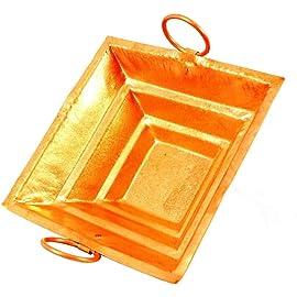Copper Yagya Hawan/Havan/ Yagna Kund, Poojan Purpose, Indian Cultural Religious Item Best for Home, Office, Gifts 15x15 cms    Green World Pooja Samagri   