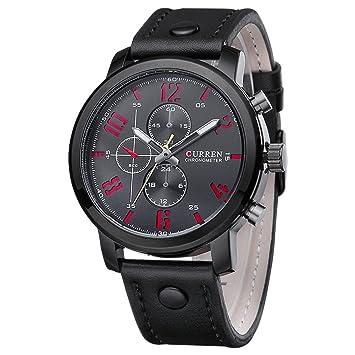 newest b87ca e649a La bellezza CURREN クオーツ メンズ カジュアル 腕時計 レザーベルト クロノグラフ 大きな文字盤 デカウォッチ 30m 生活防水  013