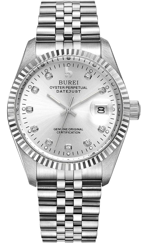 Burei® Herren Die klassische Design VergrÖßern Datum Display Business Stil automatische Armbanduhr Armbanduhr mit