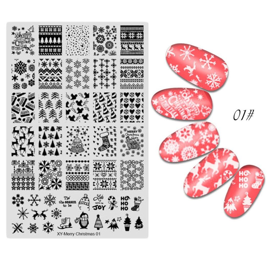 Igemy DIY Merry Christmas Nail Art Image Tampon Stamping Plaques Manucure Modèle Nail stamping plaques
