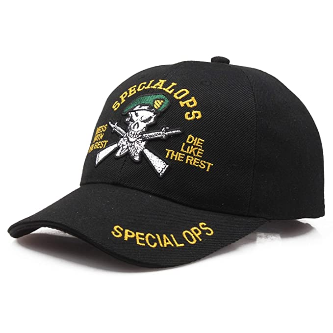 Baseball Cap Tactical Cap Army Style Snapback Caps Special OPS Bone Gorras Casual Casquette Hip hop Cotton at Amazon Womens Clothing store:
