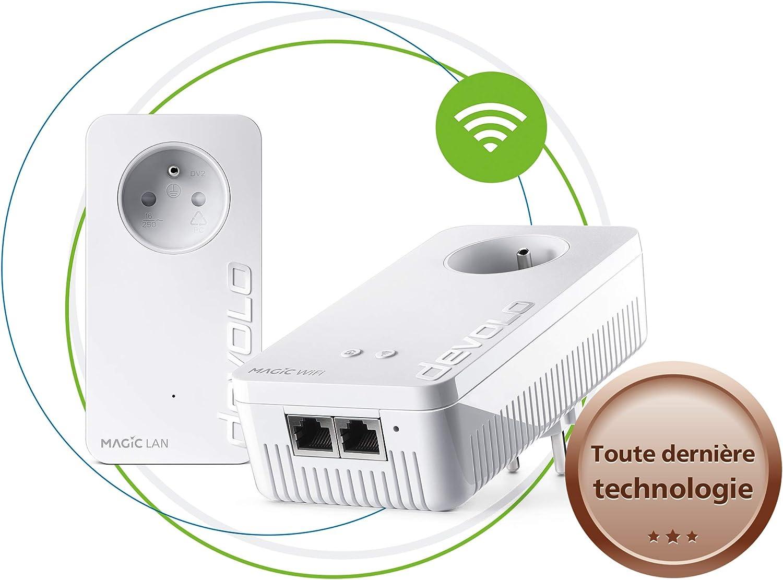 devolo Magic 1 WiFi : Starter Kit CPL pour un WiFi ac...