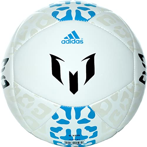 adidas Messi – Balón de fútbol, Talla 5, Color Blanco/Samba Azul ...