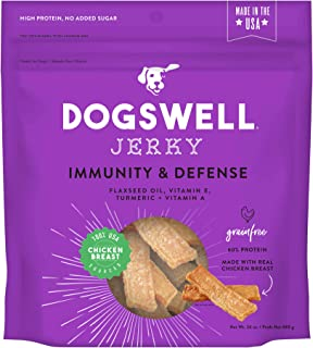 product image for DOGSWELL 100% Meat Jerky Treats for Dogs, Made in The USA with Vitamins & Turmeric for Healthy Aging
