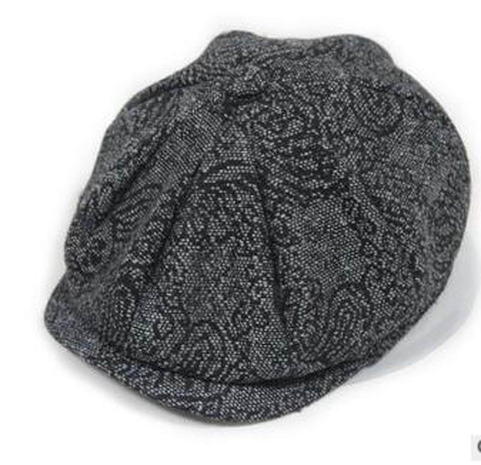 UKURO Korean Style Woman Man Cotton Linen Octagonal hat Unisex Newsboy Winter Solid,1,One Size