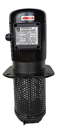8.7 Single 1 Phase 110//220V 1//8 HP Lathe BandSaw Machine Tool Circulation Coolant Pump Immersion Length 220mm NPT 1//2 Thread stem
