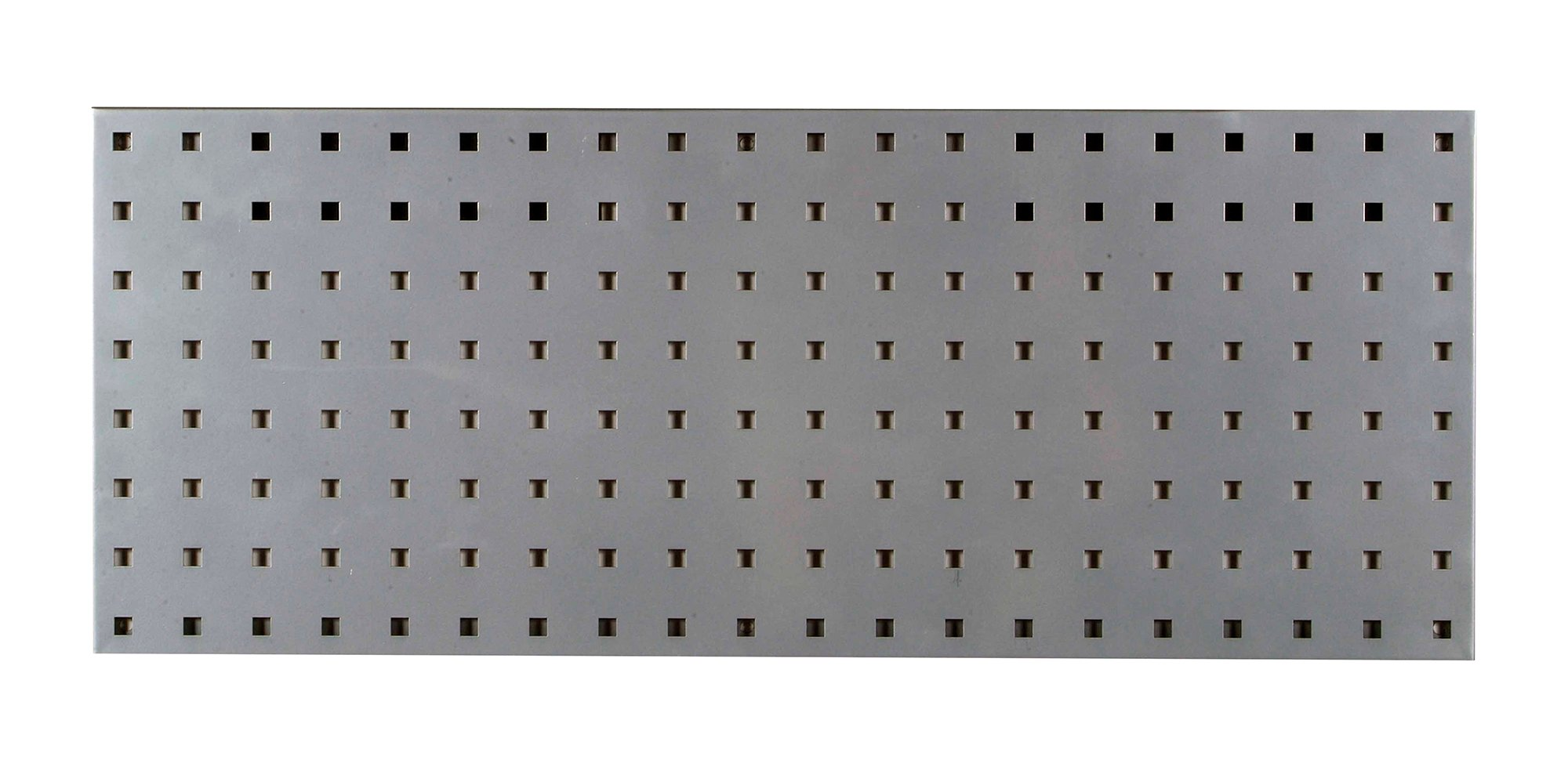 LocBoard LBS-3S Steel Square Hole Pegboard Strip, 30'' x 12'', Silver
