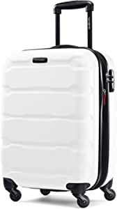 Samsonite Omni PC Hardside Expandable Luggage with Spinner Wheels, White, Carry-On 20-Inch