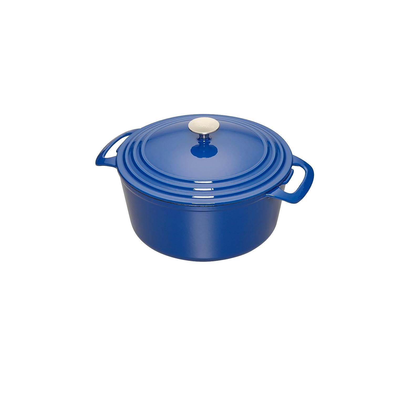 Cooks Enameled Cast Iron 3.5 quart Dutch Oven, Medium, Blue