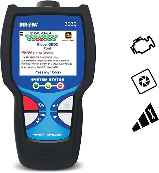 P0302 code on the OBD2 scanner from Innova 3030 G