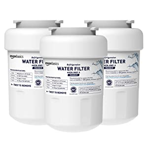 AmazonBasics Replacement GE MWF Refrigerator Water Filter - Standard Filtration - 3-Pack