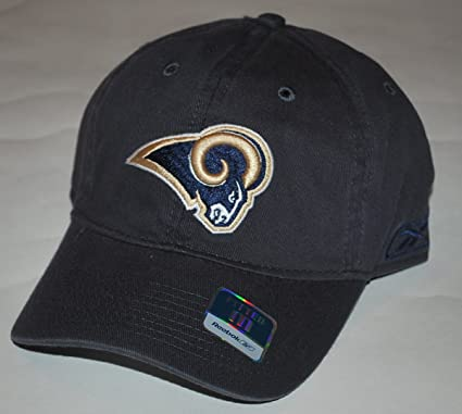 f9c85af2093 Amazon.com   St. Louis Rams -Navy- Fitted Sideline Slouch Hat ...