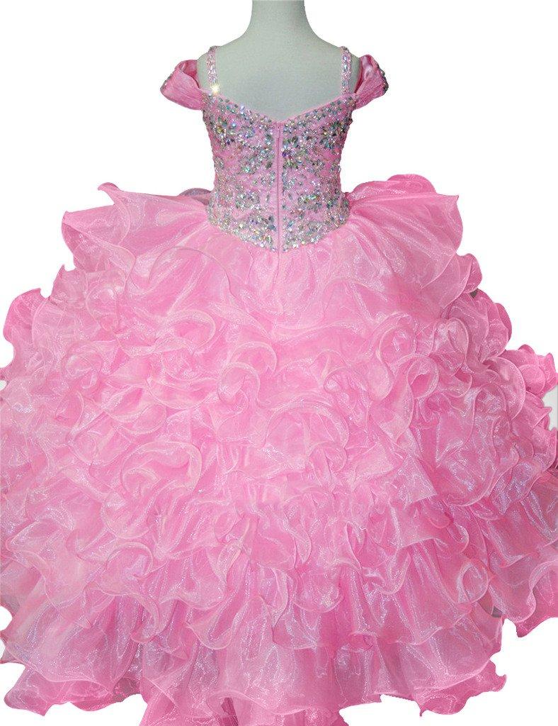 huamei Pageant Little Girls vestidos Fiesta de cumpleaños bola ...