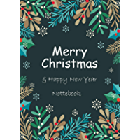 Merry Christmas & Happy New Year Notebook: 6x9 inch Daily Planner Journal, To Do List Notebook, Daily Organizer, Watercolor Floral Design, 160 Pages: This To-Do List Notebook (English Edition)