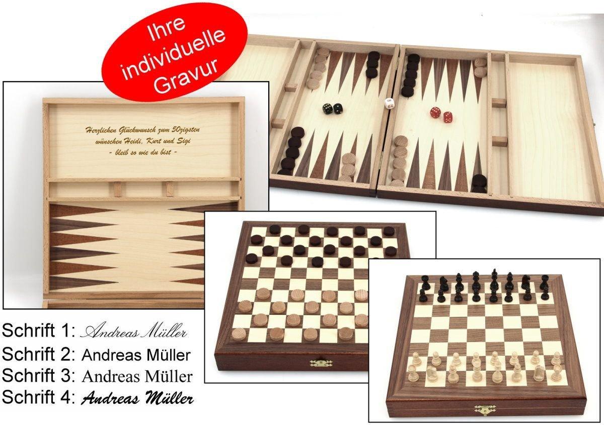 Schach - Backgammon - Dame