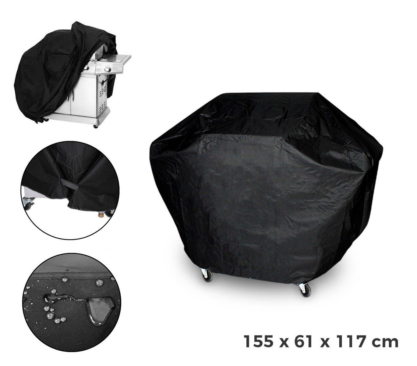 MEDIA WAVE store Telo di Copertura 4216 per Barbecue Completamente Impermeabile 155 x 61 x 117 cm