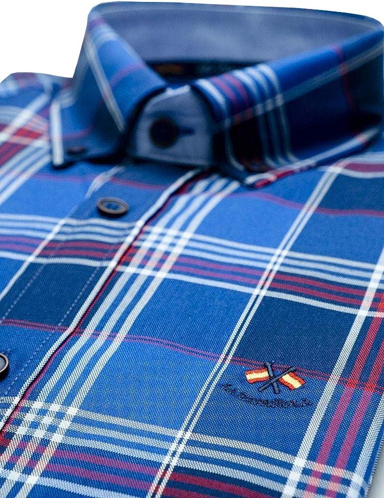 La Española Camisa de tartán Azul: Amazon.es: Ropa y accesorios
