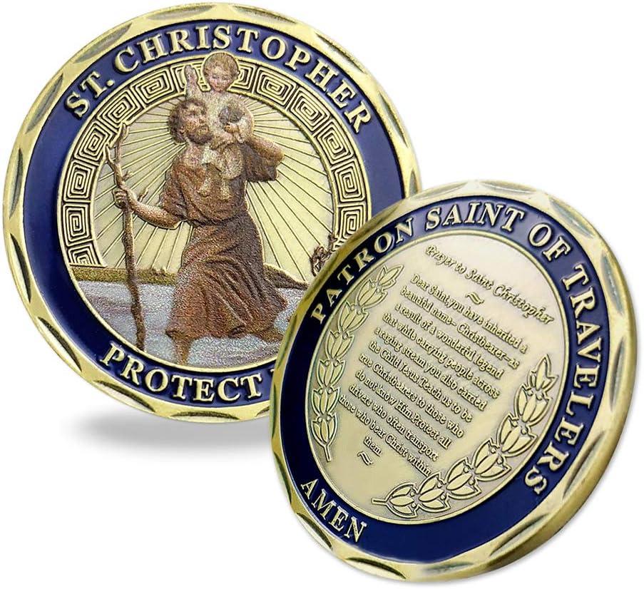 Indeep St Christopher Challenge - Moneda, diseño de San Cristóbal