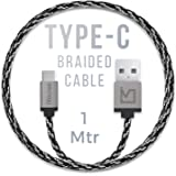 iVoltaa Pixie Type-C to USB 2.0 Braided Cable - 4 Feet (1.2 Meter) - Sith Grey