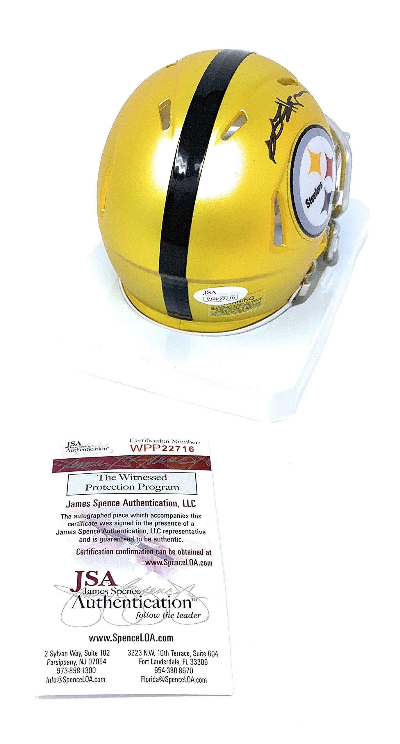 Antonio Brown Pittsburgh Steelers Signed Autograph BLAZE Speed Mini Helmet JSA Witnessed Certified