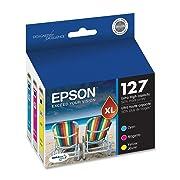 Epson DURABrite T127 Ultra 127 Extra High-capacity Inkjet Cartridge (3, Color Multipack)