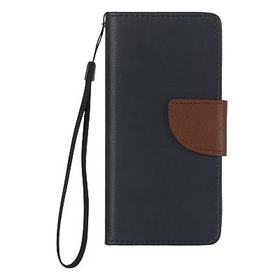 Funda Sony Xperia E5 Case , Ecoway Color del golpe PU Leather Cuero Suave Cover Con Flip Case TPU Gel Silicona,Cierre Magnético,Función de Soporte,Billetera con Tapa para Tarjetas ,Carcasa Para Sony Xperia E5 -