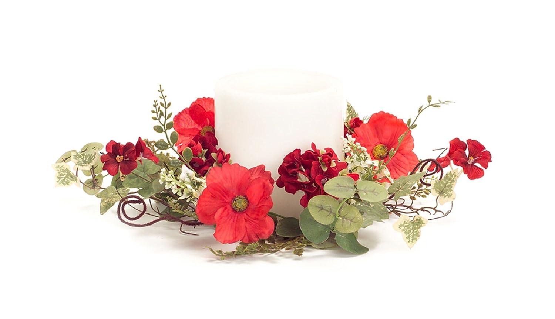 Melrose Poppy/ゼラニウムCandle Wreath 17