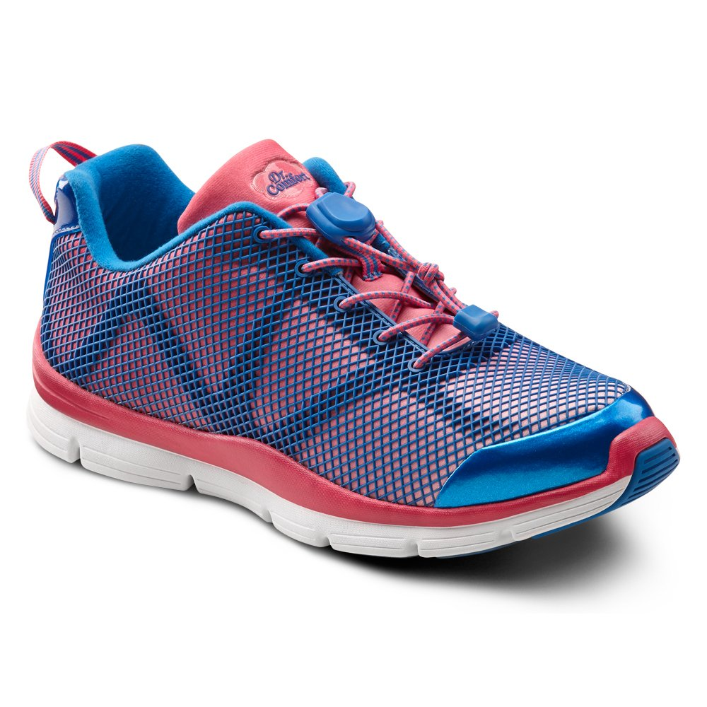 Dr. Comfort Katy Womens Sneaker B00L2OI1IG 11.0 X-Wide (E-2E) Pink/Blue Lace US Woman|Pink and Blue