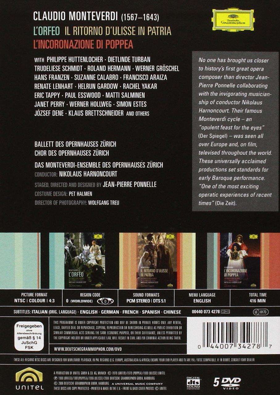 Monteverdi - L'Orfeo, L'Incoronazione di Poppea, Il Ritorno d'Ulisse in Patria (Boxset) by Deutsche Grammophon