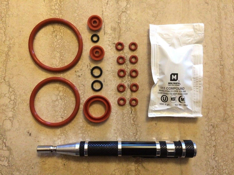 Jura Capresso OEM Brew Group O-ring set w// Oval Head Service Key Tool BIG KIT