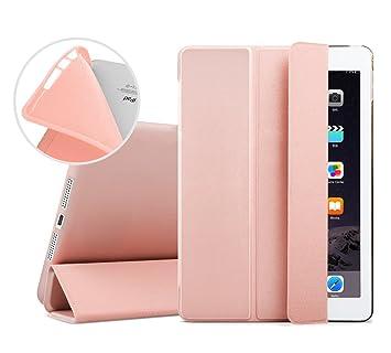 iPad Mini Funda, EssVita Delgado A prueba de choques Suave TPU Carcasa Inteligente Automático Despertador / Dormir Protector magnético Funda para iPad ...