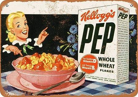 Kelloggs Pep Flakes Póster de Pared Metal Creativo Placa ...