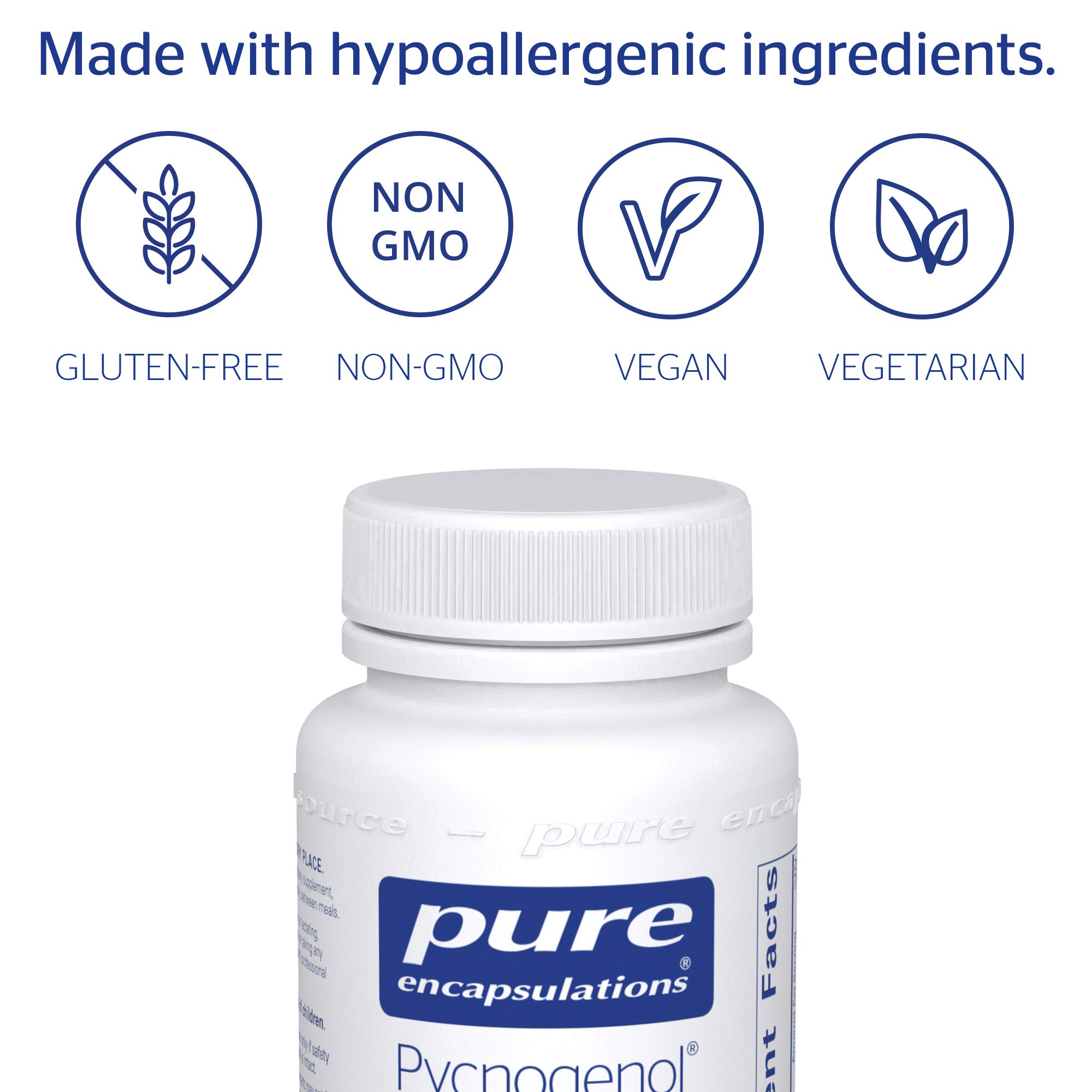 Pure Encapsulations - Pycnogenol 50 mg - Hypoallergenic Supplement to Promote Vascular Health and Provide Antioxidant Support - 120 Capsules by Pure Encapsulations (Image #4)
