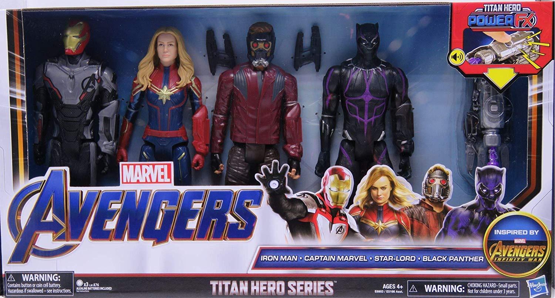 Marvel Avengers Titan Hero Series Power FX Set of Four Action Figures